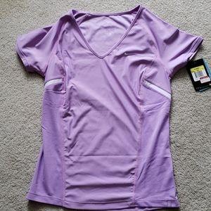 NWT Nike Dri-Fit Athletic Top Lilac White Small